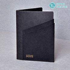 俬品創意 - 設計款紙革護照夾 (極簡黑)