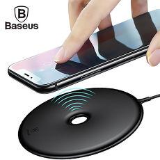 倍思 甜甜圈無線充電板 15W QC快充板 QI無線充電器 充電座黑色