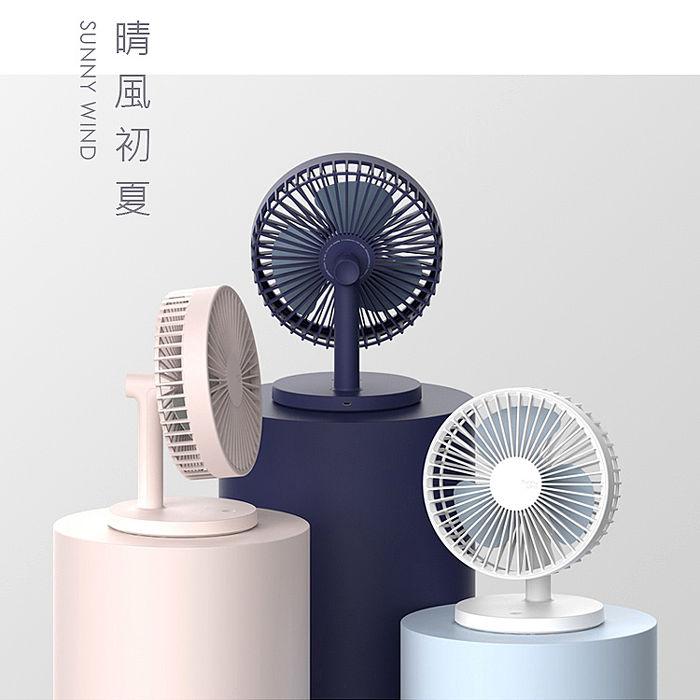 Sunny Wind 北歐風 晴風風扇 USB桌面大風扇冰川白