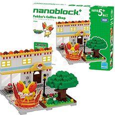 精靈 寶可夢 神奇寶貝 河田積木 kawada nanoblock PP-003 小火狐的時尚咖啡廳(預購3日內出貨)