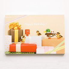 河田積木 nanoblock 積木卡片 NP-001 生日用祝福小鴨