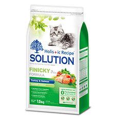 【SOLUTION】耐吉斯 成幼貓 綠茶化毛 火雞肉+鮭魚7.5公斤 X 1包