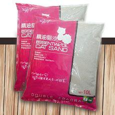 【嚴選ECS】無粉塵天然海洋玫瑰精油貓砂 10L x 3包粗砂