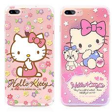GARMMA Hello Kitty iPhone 8/7 Plus TPU保護軟殼 小花與熊熊