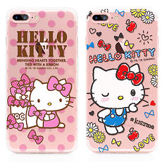 GARMMA Hello Kitty iPhone 8/7 Plus TPU保護軟殼 蝴蝶與淘氣