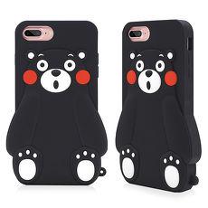 GARMMA Kumamon熊本熊iPhone 7/6S/6 -立體矽膠果凍套 小呆瓜