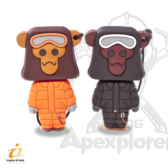 i2 極地猿人4G造型隨身碟(橘色)