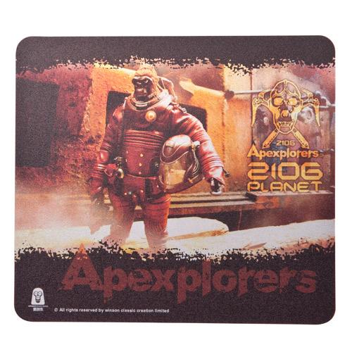 i2 極地猿人超薄滑鼠墊-01 (附贈收藏公仔)