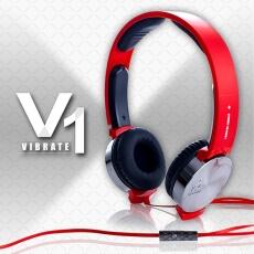 i2 X GTV八大電視 終極X宿舍獨家合作耳機 i2 VIBRATE 線控耳罩式耳機搖滾紅