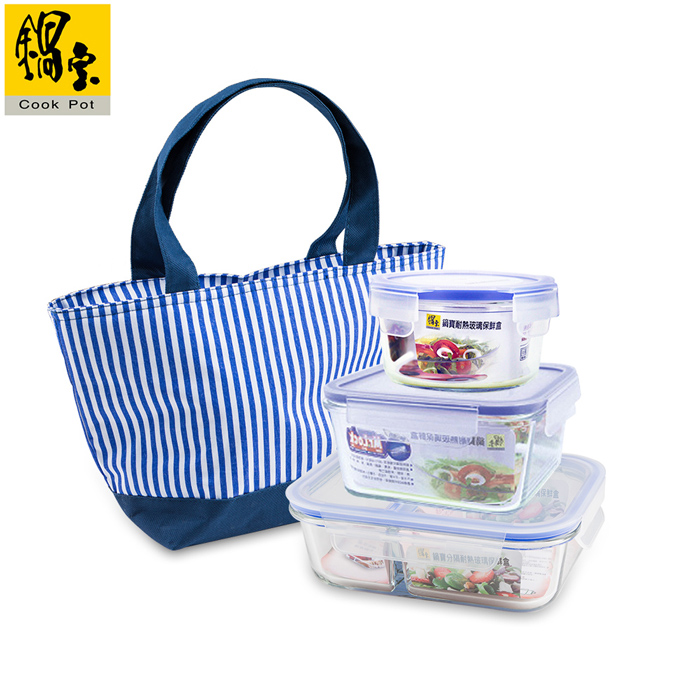 【鍋寶】耐熱玻璃保鮮盒-輕食3+1組 EO-BVG6B352400BG1B