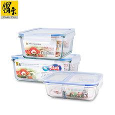 【鍋寶】耐熱玻璃分隔保鮮盒-大容量3入組 EO-BVG1021BVC112161