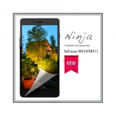 【東京御用Ninja】InFocus M510/M511通用款高透防刮無痕螢幕保護貼