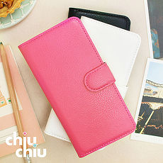 【CHIUCHIU】iPhone 7(4.7吋)荔枝紋側掀式可插卡立架型保護皮套
