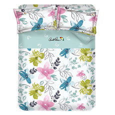 【Arnold Palmer雨傘牌】果漾戀人-40紗精梳純棉床包被套雙人四件組