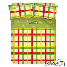 【Arnold Palmer雨傘牌】田園交響曲-40紗精梳純棉床包被套雙人加大四件組