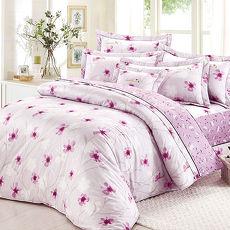 【Arnold Palmer雨傘牌】紫光花曲-40紗精梳純棉床罩雙人七件組