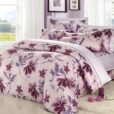 【Arnold Palmer雨傘牌】陶醉粉紫-60紗精梳純棉床罩雙人加大七件組