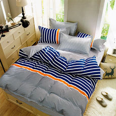 【GALATEA】時尚-台製雙人四件式磨毛床包被套組