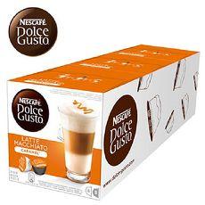 雀巢NESCAFE 焦糖瑪奇朵咖啡膠囊(Caramel Latte Macchiato) 3盒/條入