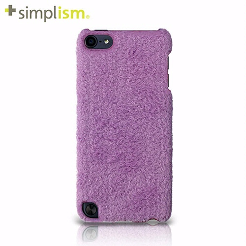 Simplism iPod touch 5 專用 布面保護殼 + 保護貼-淺紫絨毛 Fluffy Purple