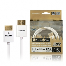 MAGIC HDMI A公-A公 1.4版高畫質3D影音超細傳輸線-1.5M