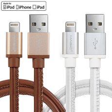 MAGIC USB2.0 轉 Apple 8Pin 原廠認證皮革傳輸充電線(1.2M)