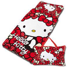 【享夢城堡】HELLO KITTY 我的Ribbon時尚系列-鋪棉兩用兒童睡袋(紅)