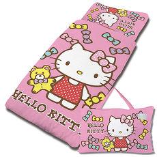 【享夢城堡】HELLO KITTY 哈尼小熊抗菌系列-鋪棉兩用兒童睡袋(粉)