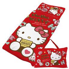 【享夢城堡】HELLO KITTY 繽紛甜心抗菌系列-鋪棉兩用兒童睡袋(粉)