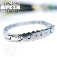 【GAMMA】頂級時尚鎢鋼能量手鍊/手環(水晶鑽4顆款) 金屬鍺/磁石/負離子(雙11)