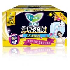 蕾妮亞 淨吸柔護 大流量護邊 夜用衛生棉 40cm (8片x2包)/組(9419)