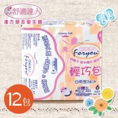 舒適達人 草本負離子衛生棉 日用型 24cmX6片X12包/組
