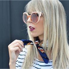 FENDI-時尚造型 太陽眼鏡(橘色)FF0137S