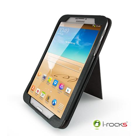 i-rocks Samsung Galaxy Tab3 8.0皮革保護套(黑)