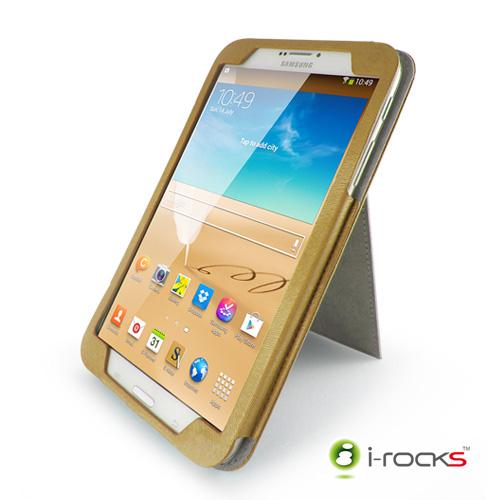 i-rocks Samsung Galaxy Tab3 8.0皮革保護套(駝色)