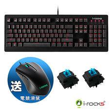 i-Rocks IRK65MS單色背光機械式鍵盤-德國Cherry青軸+IRM09電競滑鼠