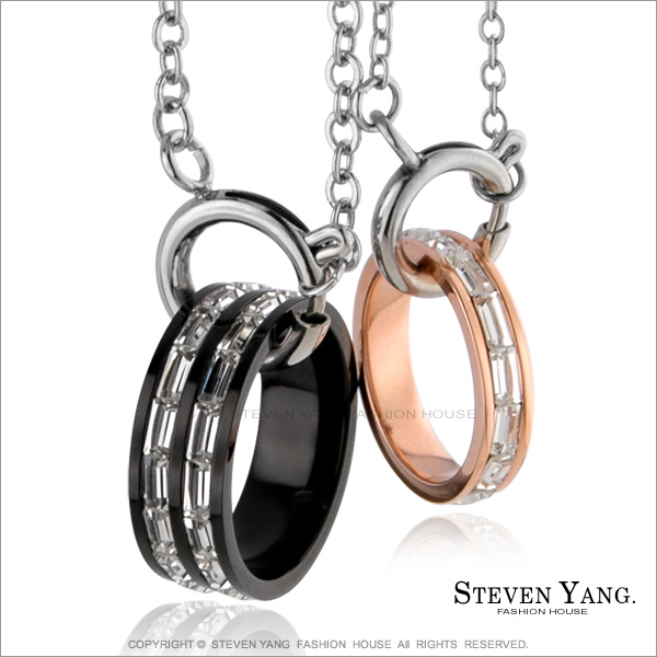 STEVEN YANG【KC1075】西德鋼飾 項鍊扣環- 含鍊情侶扣環 *單個價格* 可將戒指改成項鍊 寬版