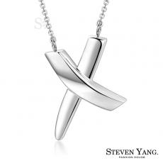 STEVEN YANG【KC3118】珠寶白鋼飾「浪漫交織」鋼項鍊 銀色款 附鋼鍊*單個價格*