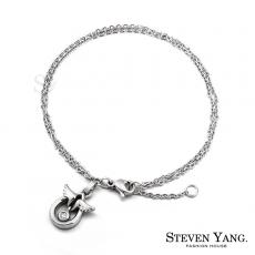 STEVEN YANG【KB592】珠寶白鋼飾「天使蛋」鋼手鍊 甜心小資女 不易掉鑽 畢業禮物