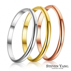STEVEN YANG【KB3118】西德鋼飾 時尚素面鋼手環 *單個價格*三款任選銀色
