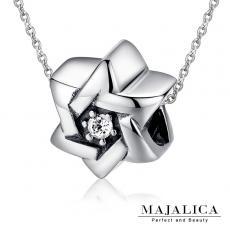 Majalica【KPN4023】925純銀飾「閃耀光芒」純銀項鍊 鋯石 不易掉鑽*單個價格* 附保證卡