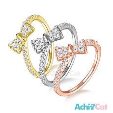 925純銀戒指 AchiCat 純銀飾 俏麗蝴蝶結 尾戒線戒 單個價格 AS6050