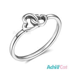925純銀戒指 AchiCat 尾戒 純銀飾 心心相印 愛心 AS7006
