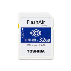 TOSHIBA 32G FlashAir SDHC U3 Wifi無線傳輸記憶卡 W-04 (平輸)