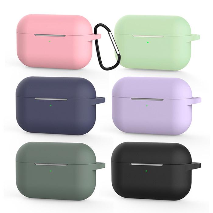 [Adpe] Airpods Pro 專用 純色矽膠保護套桃粉色