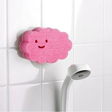 日本製造AISEN黏貼式大片雲朵浴室海綿刷2包裝