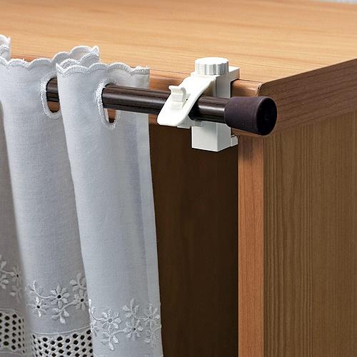 【特惠組】日本 LEC扣鎖式窗簾桿專用掛勾(2包裝)