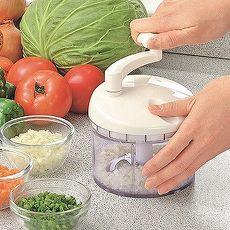 日本製造OL專用漾彩蔬果研磨絞碎器(象牙白)