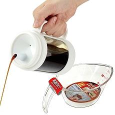 【特惠組】日本ASVEL油控式350ml調味油玻璃壺+300ml量杯