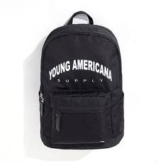 【Y.A.S】街頭潮流實用後背包-LOGO款黑(PB01001)